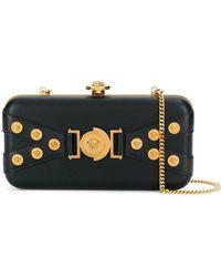 147770555e Lyst - Versace Palazzo Metallic Leather Evening Clutch Bag in Metallic