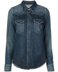 Nili Lotan - Button Denim Shirt - Lyst