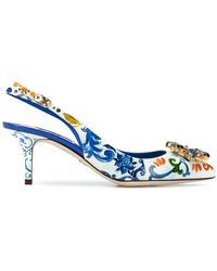 Dolce & Gabbana - Floral Pointed Pumps - Lyst
