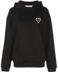 Givenchy - Heart Embroidered Logo Hoodie - Lyst