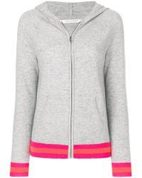 Chinti & Parker - Stripe Trim Zipped Hoodie - Lyst