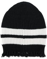 MSGM - Frayed Knitted Beanie - Lyst