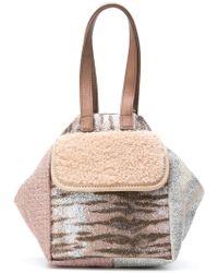 Carmina Campus - Metallic Mini Bucket Bag - Lyst