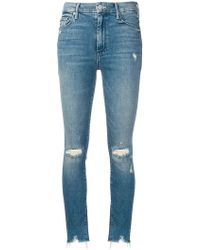 Mother - High Waisted Looker Ankle Jeans - Lyst