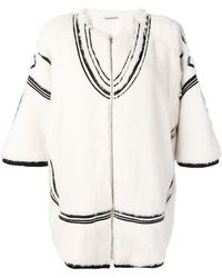 Tsumori Chisato - Contrast Embroidery Zipped Jacket - Lyst