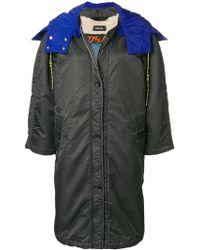DIESEL - Hooded Coat - Lyst