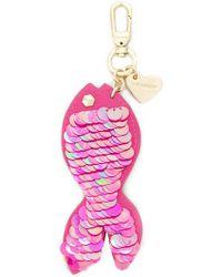 Twin Set - Sequin Fish Keyring - Lyst