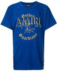 Amiri - 'Golden Guardians' T-Shirt - Lyst
