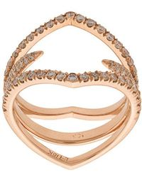 Eva Fehren - Diamond Detail Ring - Lyst