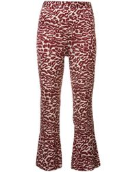 Piamita - Printed Cropped Trousers - Lyst