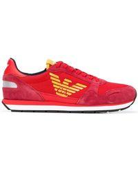 c2041a9f7f4 Emporio Armani - Contrast Logo Sneakers - Lyst
