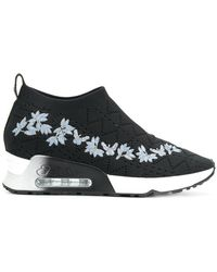 Ash - Floral Embroidered Slip-on Sneakers - Lyst