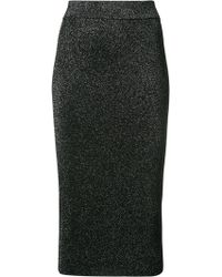 Cushnie et Ochs - Metallic Fitted Midi Skirt - Lyst