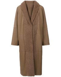 Sprung Freres - Furry Detail Coat - Lyst