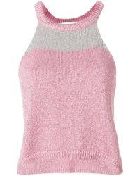 Giada Benincasa - Glittered Knit Top - Lyst