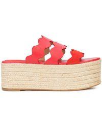 Chloé - Lauren Flatform Sandals - Lyst