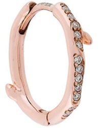 Shaun Leane - Cherry Branch Diamond Hoop Earring - Lyst