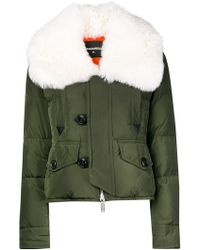 DSquared² - Fur-trimmed Down Jacket - Lyst