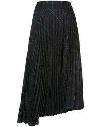 Vince - Pleated Midi Skirt - Lyst