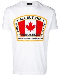 DSquared² - Flag Print T-shirt - Lyst