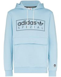 a7d697fa9a36 Lyst - adidas Originals Logo Knitted Tracksuit in Blue for Men