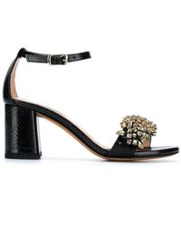 Albano - Open Toe Embellished Sandals - Lyst