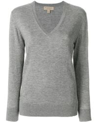 Burberry - Cashmere Check Detail Jumper - Lyst