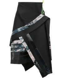Martina Spetlova - Bonded Leather Strips Skirt - Lyst