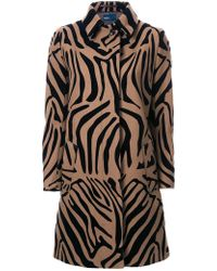 Kolor - Animal Print Coat - Lyst