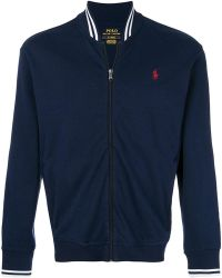 Polo Ralph Lauren - Embroidered Logo Zipped Sweatshirt - Lyst