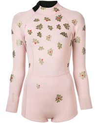 Cynthia Rowley - Floral Wetsuit - Lyst