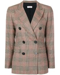 Alberto Biani - Double-breasted Checked Jacket - Lyst