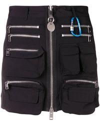 DIESEL - Zip-detail Mini Skirt - Lyst