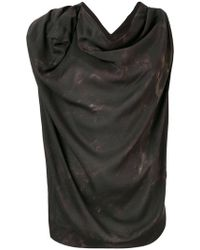 Vivienne Westwood Anglomania - Sleeveless Draped Top - Lyst