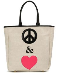 Boutique Moschino - Peace & Love Tote Bag - Lyst