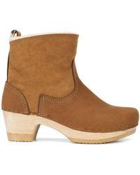 "No. 6 - 5"" Shearling Clog Boots - Lyst"