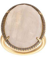 Irene Neuwirth - 18kt Yellow Gold Moonstone Cocktail Ring - Lyst