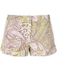 Just Cavalli - Floral Print Shorts - Lyst