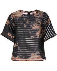 Suzusan - Transparent Border Printed T-shirt - Lyst