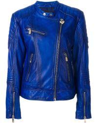Frankie Morello - Leather Biker Jacket - Lyst