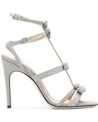 Sergio Rossi - Strappy Glitter Sandals - Lyst