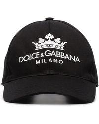 fb9f69d39c372 Dolce   Gabbana - Black Logo Print Baseball Cap - Lyst