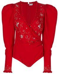 Magda Butrym - Embroidered Bodysuit - Lyst