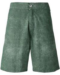 Fashion Clinic Washed Swim Shorts - Green