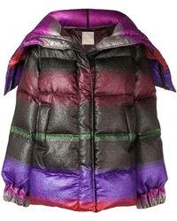 Marco De Vincenzo - Multicoloured Short Padded Coat - Lyst