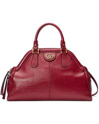 Gucci Signature Leather Top-Handle Bag in Pink - Lyst 40e0e7543fea3