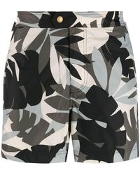 3e7ab9af36 Tom Ford - Leaf Patterned Swim Shorts - Lyst