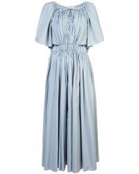 Rosie Assoulin - Long Gathered Detail Dress - Lyst