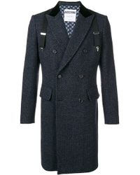 Moschino - Overall Tweed Coat - Lyst