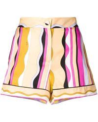 Emilio Pucci Guanabana Print Silk-twill Shorts